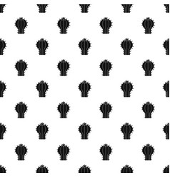 Cactus with flower pattern vector
