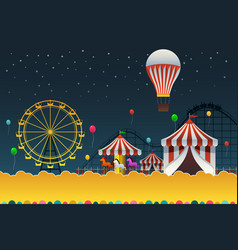 carnival night poster vector image