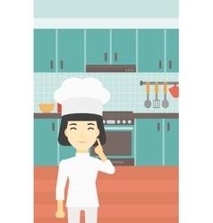Chief cooker having idea vector