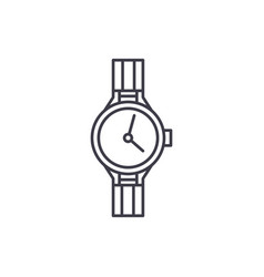 chronometer line icon concept chronometer vector image