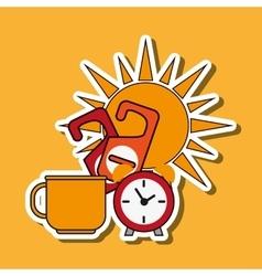 Clock design flat vector