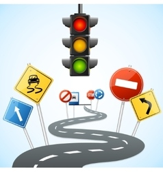 Concept of Road with Traffic Lights vector image