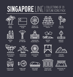 Country singapore travel vacation guide of goods vector