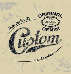 Custom ny 1 vector