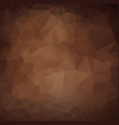 Dark brown triangle mosaic background creative vector