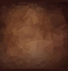 Dark brown triangle mosaic background creative vector