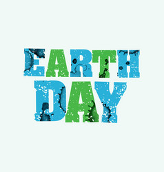 Earth day concept stamped word art vector