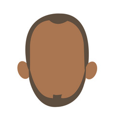 Faceless head of man portrait icon vector