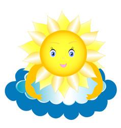 fairy sun to shine vector image