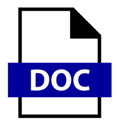 File name extension doc type vector
