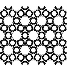 Geometric seamless pattern black and white figure vector
