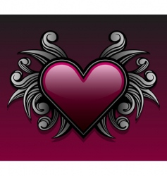 gothic heart design vector image vector image