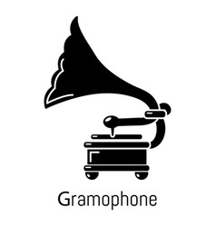gramophone icon simple black style vector image