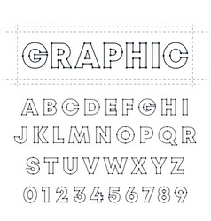 graphic alphabet font template letters and vector image
