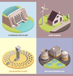 green energy isometric concept vector image
