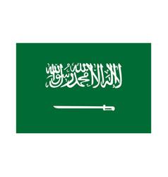 green flag saudi arabia with a sword the vector image