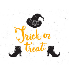 halloween greeting card lettering calligraphy vector image