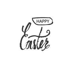 Happy easter lettering modern hand written easter vector