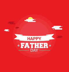 happy father day calligraphy 2018 concept design vector image