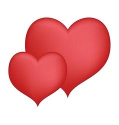 Hearts love decorative art valentine day design vector