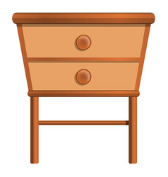 House nightstand icon cartoon style vector