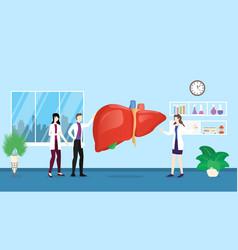 human liver health care checkup analysis vector image
