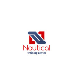 icon for nautical training center vector image