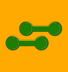 icon in flat design dumbbells vector image