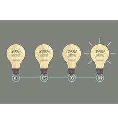Idea Timeline Infographic vector image