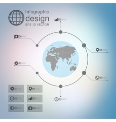 infographic with unfocused background and icons vector image