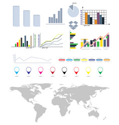 infographics elements map earth set vector image