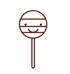 Isolated lollipop candy on stick vector