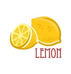 Lemon fruit symbol vector image