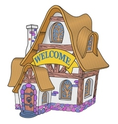 Little fairytale house vector
