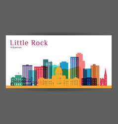 Little rock city arkansas architecture vector