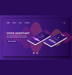 Loading page compare two smart voice assistants vector