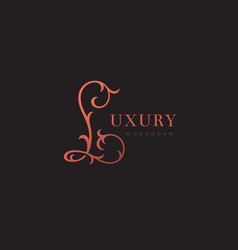 Luxury monogram l vector