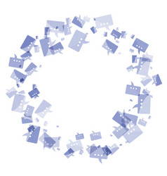 message frame blue vector image
