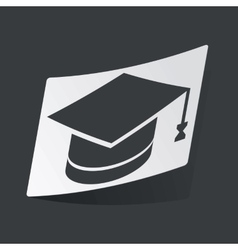 Monochrome graduation sticker vector