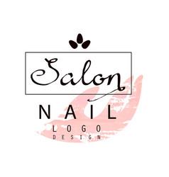 Nail salon logo design template for nail bar vector