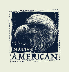 Native american vintage typography vector