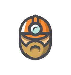 plumber men in a helmet icon cartoon vector image