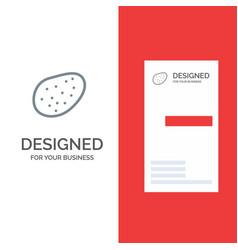 potato food grey logo design and business card vector image