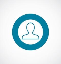 Profile icon bold blue circle border vector