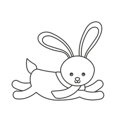 rabbit winter clothes icon vector image