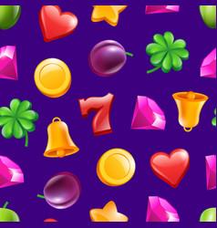 realistic casino symbols pattern vector image