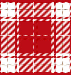 Red and white tartan plaid scottish pattern vector