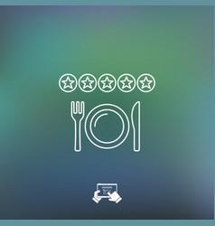 Restaurant rating icon vector