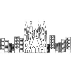 Sagrada familia church icon image vector