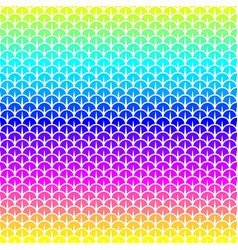 Scales seamless pattern in rainbow colors vector